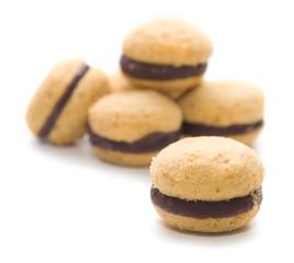 Baci di dama - pasticcini alla nocciola e cioccolato