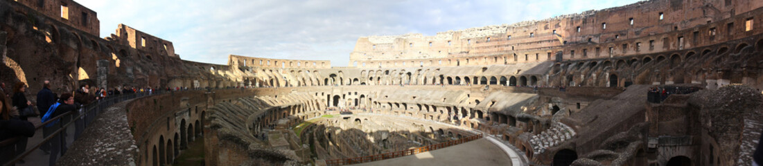 Panorama. Rome - the great city of ancient history.