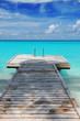Malediven - Steg ins Meer