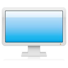 Vector widescreen monitor with 16:9 aspect ratio.