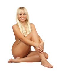 naked blonde girl