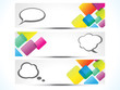 abstract colourful web banners