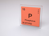 Phosphorus - symbol P - chemical element of the periodic table