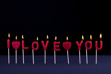I love you candles #1