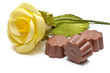 Chocholate assortments and a rose