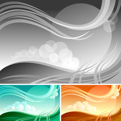 New !   Abstract Wave And Graphic Background /Banner