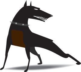 Dog snarled