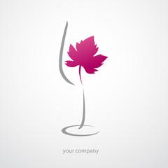 logo entreprise, logo vin, verre de vin