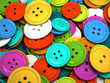 Multicolored buttons for clothing