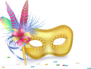 Carnival Venetian Mask isolated
