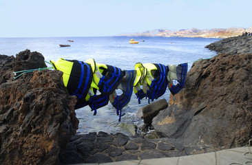 Diver's gear,Puerto del Carmen,Lanzarote, Canary Islands,Spain