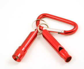 mini torch and whistle