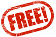Grunge Stempel rot FREE!