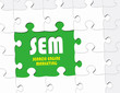 SEM - Search Engine  Marketing - Concept