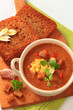 Goulash soup and fried bread