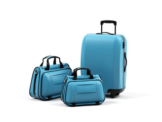 Suitcases isolated on a white background.