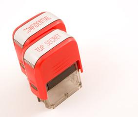 top secret confidential red ink stampers