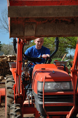 Teenage Boy on Tractor