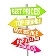 Store Advertisements on Arrow Signs - Unique Selling Points
