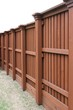 Angle view of cedar fence - 31782034