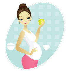 Pregnant with apple