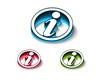 3d glossy information web icon