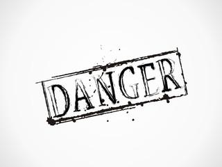 Danger grunge Text
