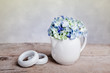 Stilleben mit Hortensien