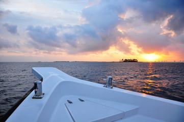 Sonnenuntergang - Boot