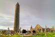 Kilmacduagh monastery in Burren area - Ireland