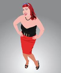 Redhead sexy rockabily girl