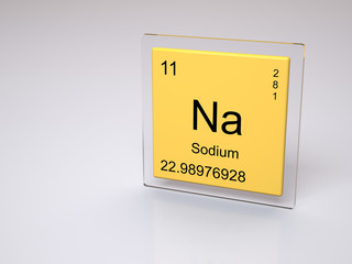 Sodium - symbol Na - chemical element of the periodic table