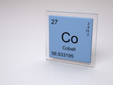 Cobalt - symbol Co - chemical element of the periodic table