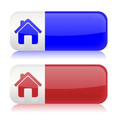Web Home Button Blau/Rot