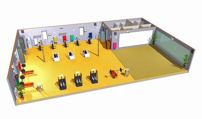 Palestra-Sport-Gym-Gymnasium-3d