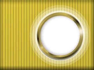 Sfondo oro a strisce con oblò luminoso a destra