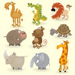 Wild animals set (Africa)