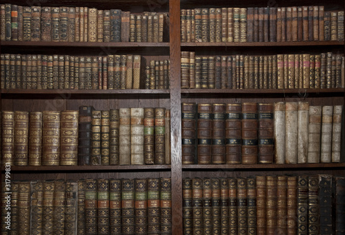 old books in old library