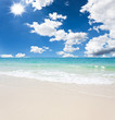 White sand and blue sky