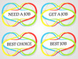 Abstract job stickers
