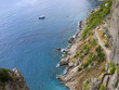 The famous hairpin path to the sea on island of Capri in Italy
