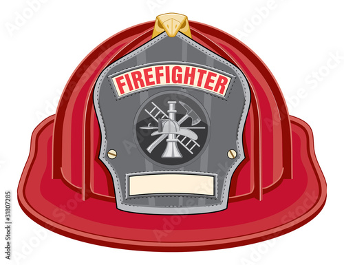Firefighter Helmet Red