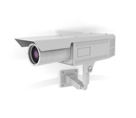 Surveillance Camera On Facade