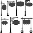 Signage Sign Pole Frame Street Ornate Banner - 31808408