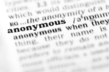 anonymous (the dictionary project)