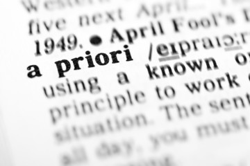 a priori  (the dictionary project)