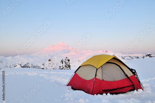 Winter Camping at Huntoon point on Artist Ridge