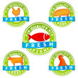 pork beef chicken and fish quality meat sign