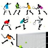 Tennis silhouettes set.03