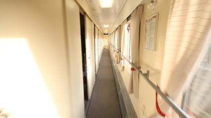 train inside